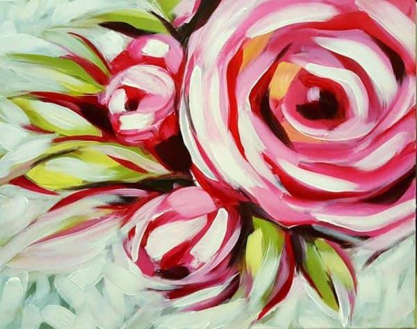 Art Party 0313 - Roses - Nectar Cuisine Internationale, Bathurst