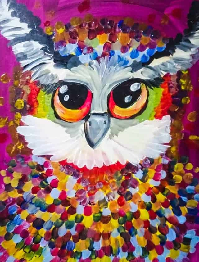 Art Party 0103 - The Color Owl - Common Grounds Cafe, Grand Falls-Windsor